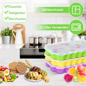 Stapelbar Eiswürfelbehälter Mit Deckel