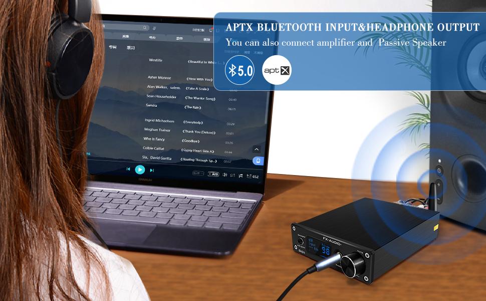 Bluetooth headphone amplifier support APTX