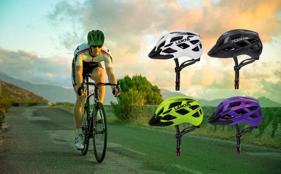 PHZ Adult Bike Mount Helmet LedLight Detachable Road Ride Bicycle Men Women CPSC