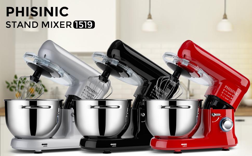 stand mixer PHISINIC stand mixer food mixer kitchen mixer mini mixer 5.8QT stainless steel bowl