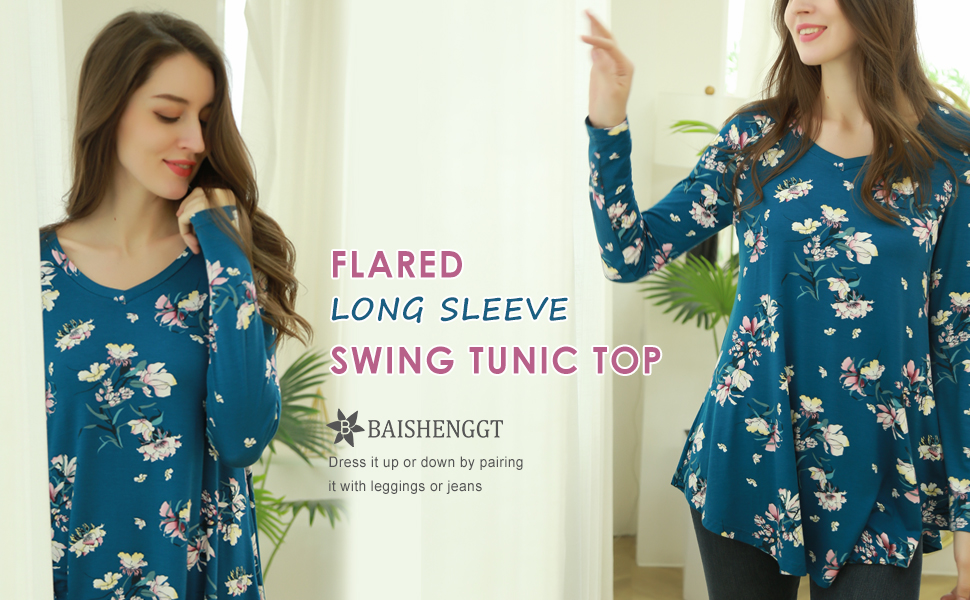 floral tunics for women