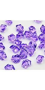 Ice rock vase fillers purple