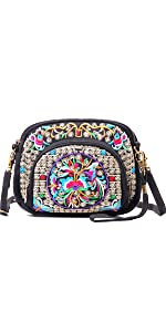 embroidery crossbody bag for women