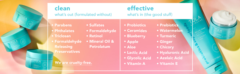 tula probiotics skincare clean and effective beauty healthy skin cruelty free
