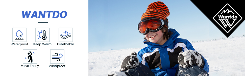 Wantdo Boy's Hooded Ski Jacket