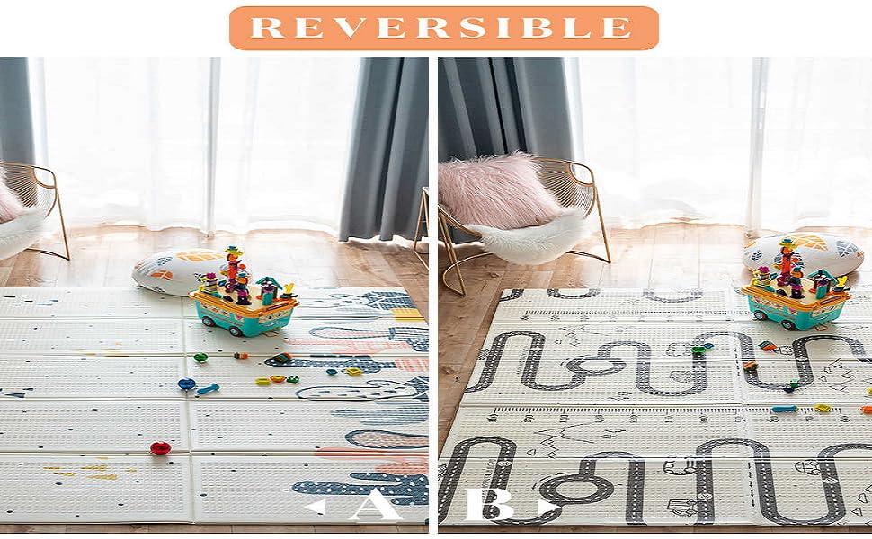 tapis reversible