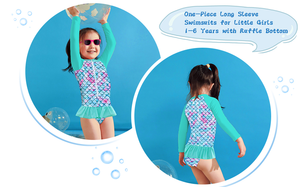 Girls Bathing Suits 1-6 Years
