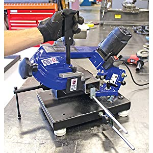 bench ban band saw benchtop metal chop variable speed aluminum electric power hand tool steel