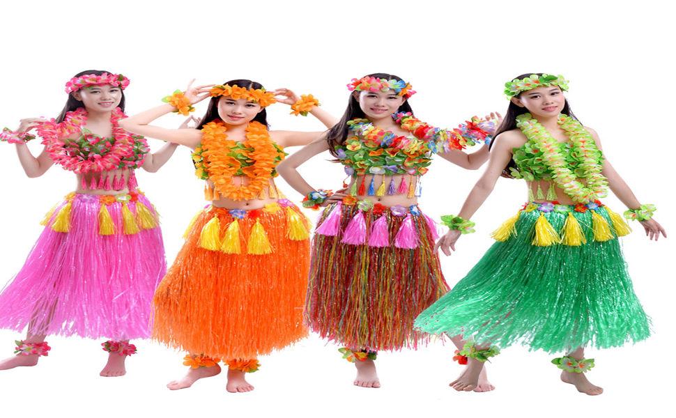 FEOYA - Disfaces Hawaiana para Mujer Trajes de Flores Coloridos ...
