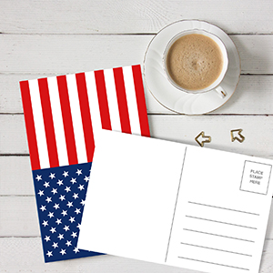 usa united states of america flag independence labor day 4th fourth july veteran army troop postcard