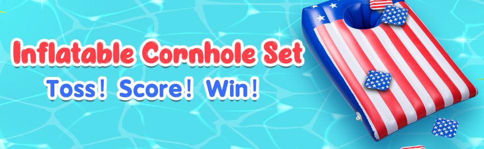 inflatable cornhole set
