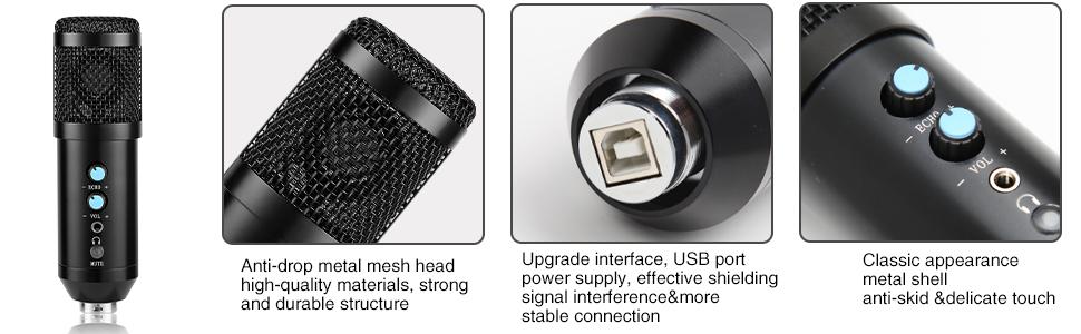 Multipurpose USB condenser microphone