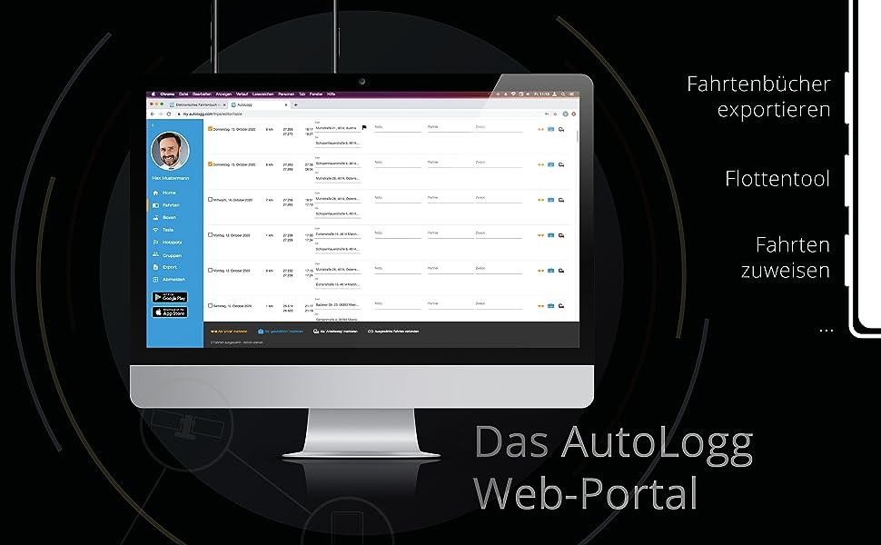Das AutoLogg Web-Portal