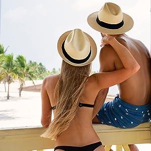 couple matching panama hats straw hats man women woman men accessories