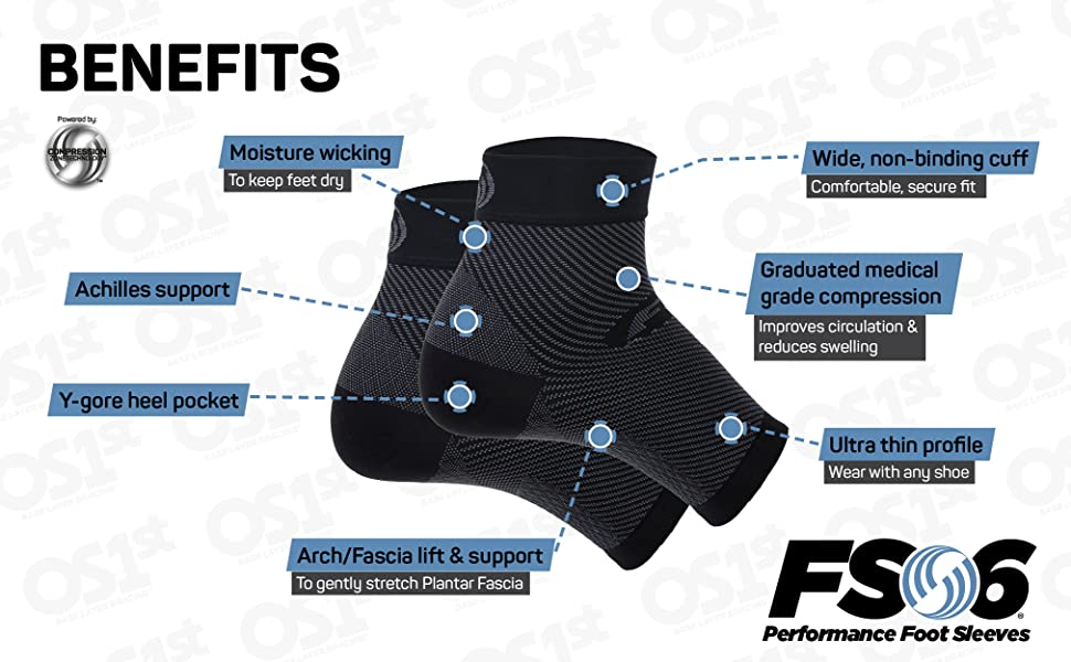 OS1st FS6 for Plantar Fasciitis relief, heel and arch pain