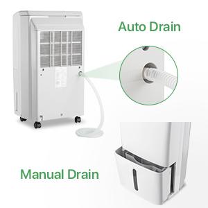 dehumidifier with drain hose 30 pint