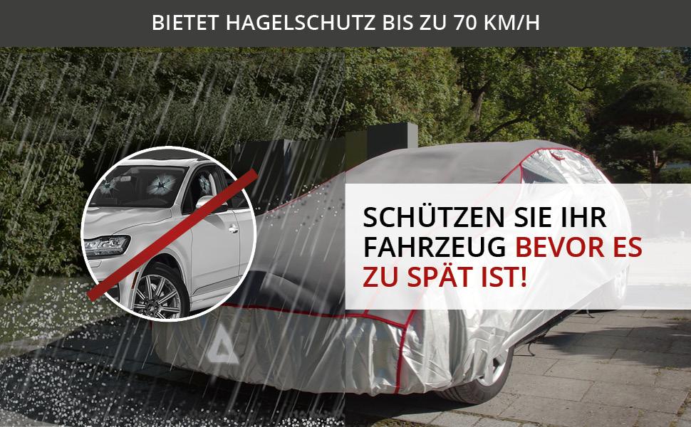 Walser 30971 Hagelschutz Auto wasserdicht atmungsaktiv Hagelschutzgarage Premium Hybrid Gr/ö/ße XL