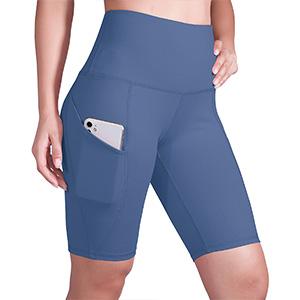 "ODODOS Side Pocket High Waist 9"" Yoga Shorts"