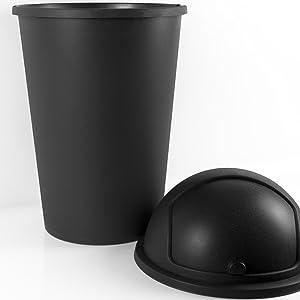 Poubelle corbeille déchets cuisine bureau plastique grande couvercle pivotant basculent 50 litres