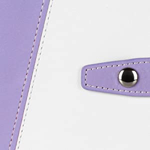 the binder cover is made of PU leather, which is soft to touch and has natural grain and luster