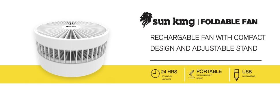 Sun King Foldable Fan