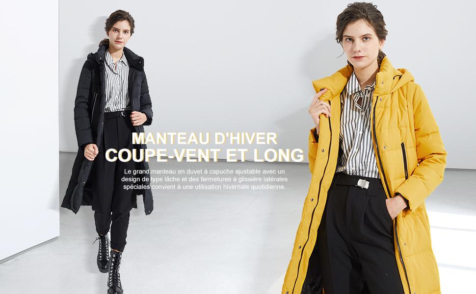 Orolay Manteau en Duvet pour Femmes Mi-Longueur