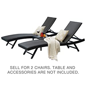 patios chaise chairs set of 2