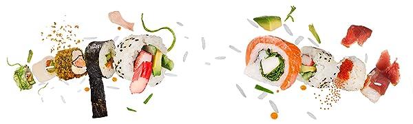 AYA Kit para Sushi - Kit en Bambú Cuchillo de Sushi – Videos ...