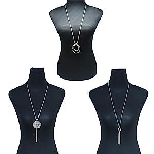 2PCS Long Pendant Necklaces for Woman