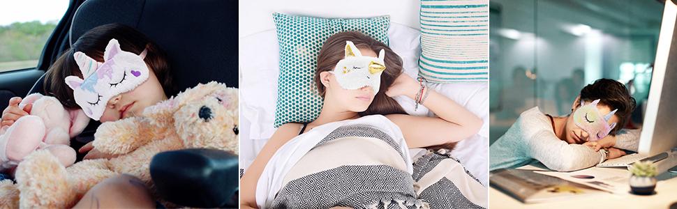 Kids Sleep Mask Unicorn Eye Mask Sleep Mask Halloween Mask Kids Eye Mask for Sleeping Sleeping Mask