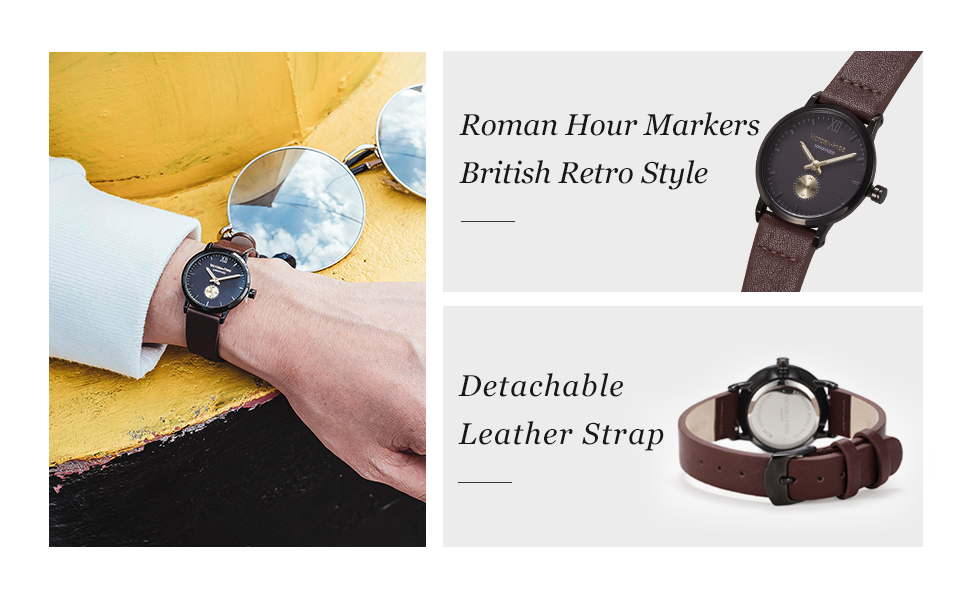 women watches for ladies leather strap detachable waterproof women wristwatches victoria hyde watch