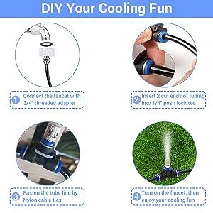 Mist Cooling System amp; Garden Irrigation Kit