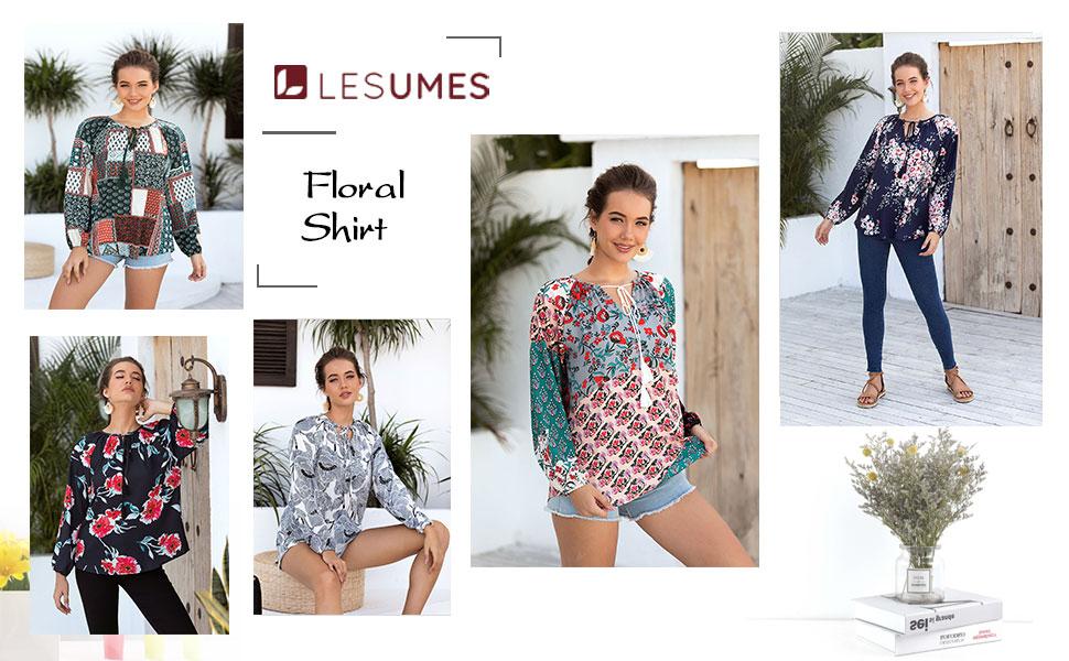 women floarl shirt