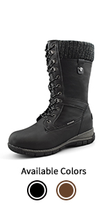 Women's Waterproof Wool-Lined Cold-Weather Boots Storm