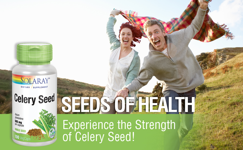 Solaray Celery Seed 505mg Healthy Cardiovascular, Liver, Water Balance amp; Joint Support Non-GMO 100ct