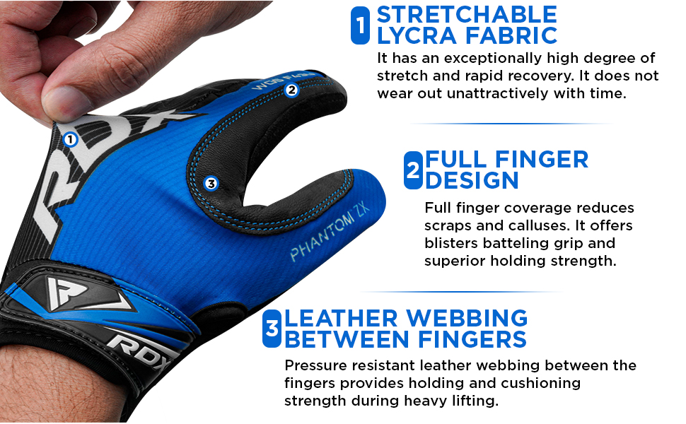 Weight Lifting Full Finger Gym Gloves for Fitness Workout