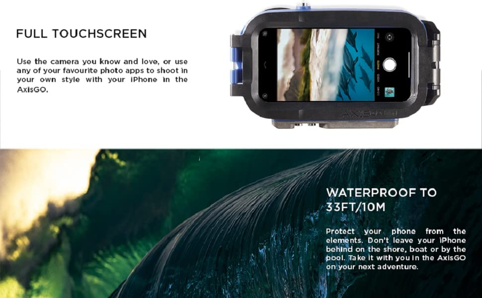 Waterproof cell phone case for iphone