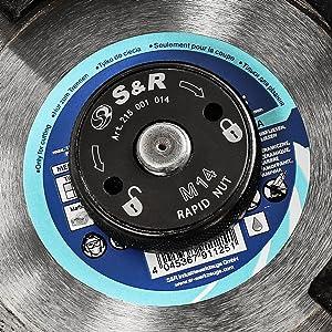 S&R snelspanmoer snelspanmoer flex hoekslijper m 14 m14 schroefdraad