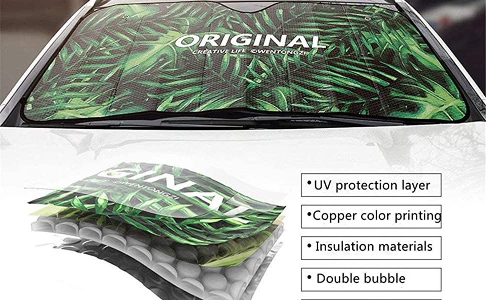 Coloranimal Sunflower Floral Universal Auto Interiors Decor Accessories Windshield Visor Cover Thicken Foldable for Heat Sun Prevention