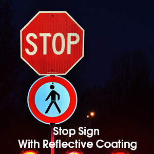 Stop Sign, Street Slow Warning Reflective Signs