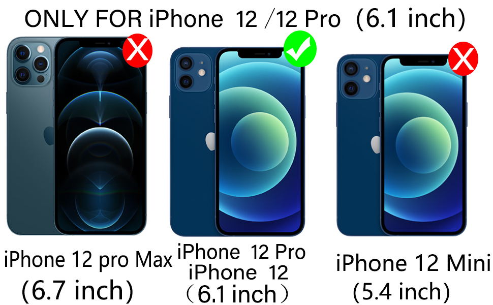 iPhone 12 Pro/iPhone 12 case with glass screen protector