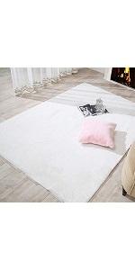 Faux rabbit fur rug