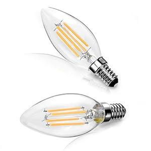 4er Paket Glühbirnen Kerze 12 W LED E14 Gewinde warmweiss 3000 K 198 lm Licht