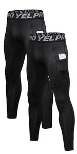 2 Pack Men Compression Pants