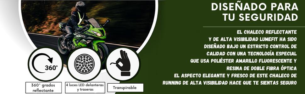 para chaleco reflectante led correr seguridad con bicicleta ajustable alta ciclismo visibilidad luz