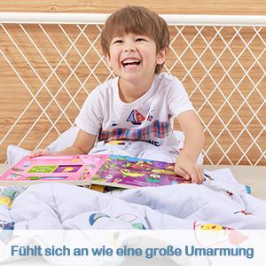 Schwere Decke f/ür Kinder und Jugendliche Anjee Kinder-Gewichtsdecke Dinopark 2.3kg 90x120cm 100/% nat/ürliche Baumwolle