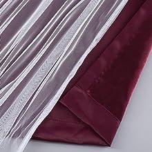 burgundy blackout curtain