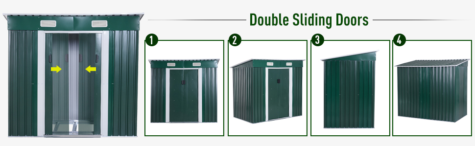 Metal Patio Storage Shed Lockable Arrow Shed Tool Yard