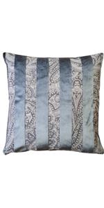 Robert Aluminum Stripe Velvet Pillow