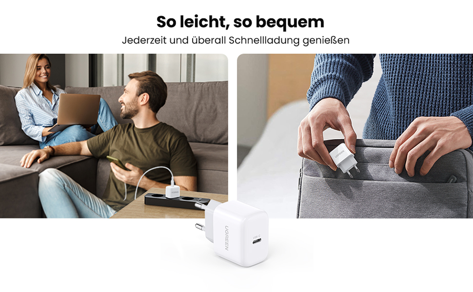 USB C Ladegerät 20W USB C Netzteil Mini Ladestecker PD 3.0 USB C Power Adapter Kompakt Mini Design